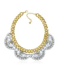 Juicy Couture - Metallic Flower Cluster Collar Necklace - Lyst