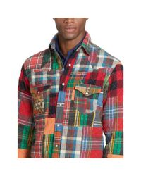 Polo Ralph Lauren - Multicolor Patchwork Western Shirt for Men - Lyst