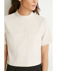 Forever 21 | Brown Two-pocket Boxy Top You've Been Added To The Waitlist | Lyst