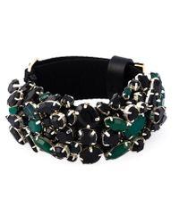 Marni - Black Strass Embellished Bracelet - Lyst