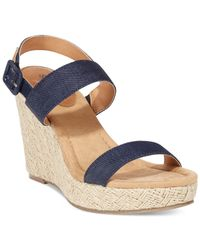 Style & Co. | Blue Style&co. Radleyy Platform Espadrille Wedge Sandals | Lyst