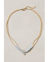 Anthropologie - Blue Double Vale Necklace - Lyst