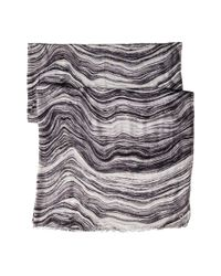 Calvin Klein - Gray Oversized Marble Scarf - Lyst