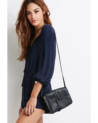 Forever 21 - Black Knotted Flap Crossbody - Lyst
