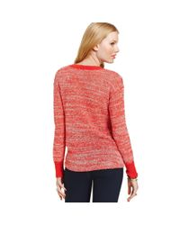 American Rag - Red Scoop Neck Striped Sweater - Lyst