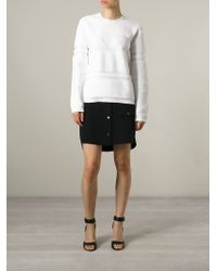 Alexander Wang | White Wet-Logo Cotton Sweater | Lyst
