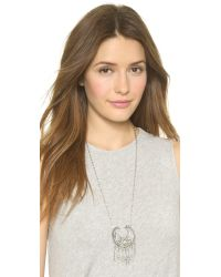 Vanessa Mooney - Metallic The Sage Necklace - Antique Silver - Lyst