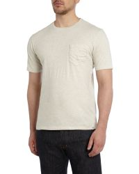 Dockers | Natural Plain Crew Neck T Shirt With Pocket for Men | Lyst