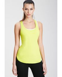 Forever 21 - Yellow Active Mesh-back Tank You've Been Added To The Waitlist - Lyst