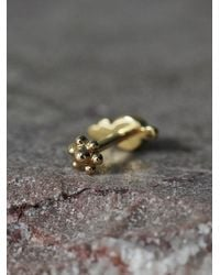 Free People - Yellow Maria Tash Jewelry Womens Diamond Trinity Helix Stud - Lyst