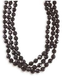 Carolee | Black Jet Bead Long Rope | Lyst