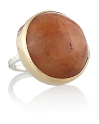 Melissa Joy Manning - Metallic 14-karat Gold And Sterling Silver Quartz Ring - Lyst
