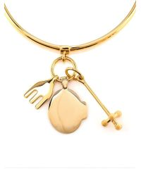 Chloé - Metallic Cross, Fork And Harlow Charm Bracelet - Lyst