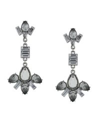 BCBGeneration | Metallic Rhodium-tone Stone Drop Earrings | Lyst