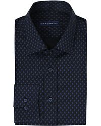 Etro | Blue Slim-fit Paisley Cotton Shirt for Men | Lyst