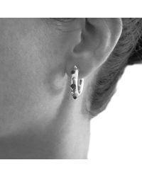 Kinnari - Metallic Gold Small Crown Hoop Earrings With Onyx - Lyst