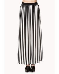 Forever 21 | Black Darling Striped Maxi Skirt | Lyst