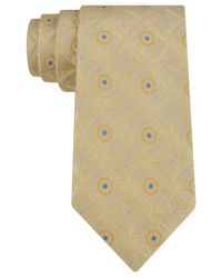 Sean John | Yellow Connected Medallion Neat Tie for Men | Lyst