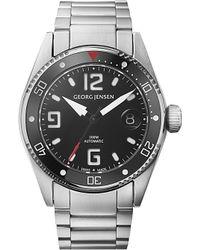 Georg Jensen - Gray Delta Dive Stainless Steel Watch 42mm for Men - Lyst