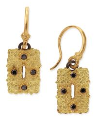 Armenta | Old World Small Rectangle Scroll Earrings With Black Diamonds | Lyst