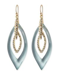 Alexis Bittar - Pave Crystal Marquise Orbital Earrings Grayblue - Lyst