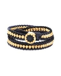 House of Harlow 1960 | Black Karma Beaded Wrap Bracelet | Lyst