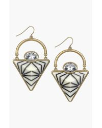 Sam Edelman | Metallic Pyramid Drop Earrings | Lyst