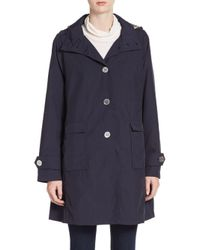 Jane Post | Blue A-line Trench Coat | Lyst