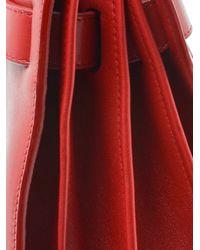 Saint Laurent - Red Sac Du Jour Leather Tote - Lyst