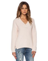 M.i.h Jeans | Pink The Hero Vee Sweater | Lyst