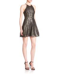 Parker - Viking Metallic Leather Halter Dress - Lyst