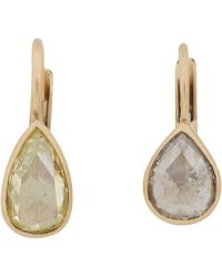 Anaconda | Metallic Yellow Diamond, White Diamond & White Gold Gwyneth Drop Earrings | Lyst