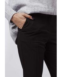 TOPSHOP   Black Popper Front Cigarette Trousers   Lyst