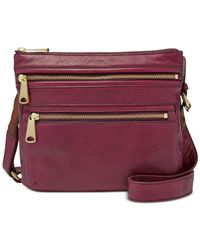 Fossil | Purple Explorer Leather Crossbody | Lyst