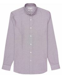 Reiss - Purple Derossi Slim-fit Patterned Shirt for Men - Lyst