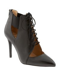 Banana Republic | Black Daphne Lace-up Bootie | Lyst