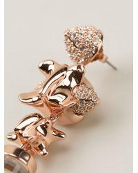 Eshvi | Pink Cylindrical Drop Earrings | Lyst