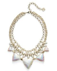 Kendra Scott | 'Emily' Stone Statement Necklace - Iridescent White Opaque Glass | Lyst