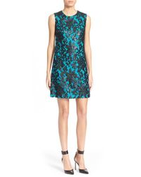 Diane von Furstenberg | Blue 'kaleb' Embellished Lace Sheath Dress | Lyst