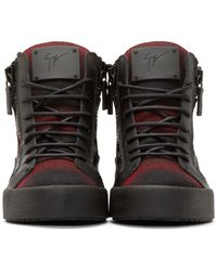 Giuseppe Zanotti - Red Plaid London High_top Sneakers for Men - Lyst