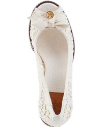 Tory Burch - White Jackie Wedge Espadrilles - Lyst
