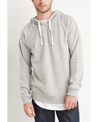 Forever 21 | Gray Brushed Knit Raglan Hoodie for Men | Lyst