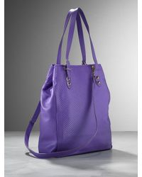 Patrizia Pepe | Purple Leather Shopper | Lyst