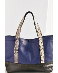 Urban Outfitters - Purple Uo Leather Colorblock Mini Tote - Lyst