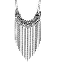Lucky Brand - Metallic Modern Shine Fringed Chain Necklace - Lyst