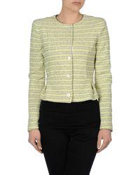 Armani Jeans - Green Peplum Stripe Jacket - Lyst