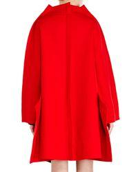 Comme des Garçons - Red Wool Felt Coat - Lyst