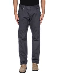 Love Moschino - Gray Casual Trouser for Men - Lyst