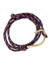 Miansai - Purple Hook Rope Bracelet - Lyst