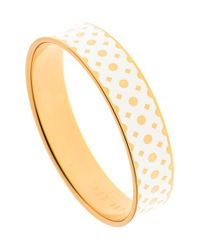 Ted Baker | Metallic 'clova' Enamel Dot Bangle Bracelet | Lyst